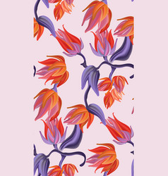flower botanical pattern contrast orange violet vector image