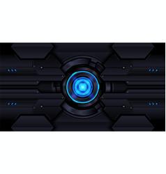Geometric shape futuristic technology red blue vector