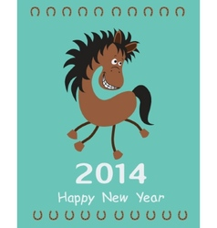 Greeting card with a Horse vector