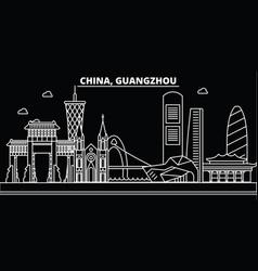 guangzhou silhouette skyline china - guangzhou vector image
