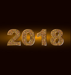 happy new year 2018 backgroundtypographic vector image