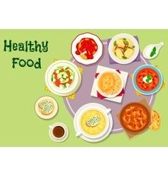 Hearty food icon for menu or recipe design vector image
