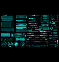 Hud virtual futuristic elements set green object vector