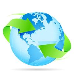 Icon Planet Earth Arrow vector image
