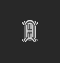 initials hi letters logo monogram linear original vector image