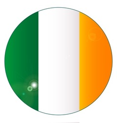 Irish Flag Button vector image
