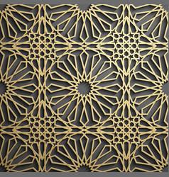islamic ornament persian motiff 3d vector image