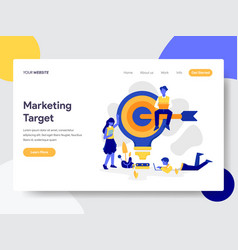 Landing page template marketing target vector
