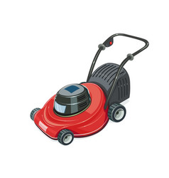 Lawn mower garden tool vector