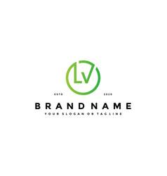 Letter lv logo design vector