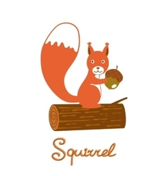 Little squirrel character vector