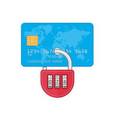 lock on credit card vector image