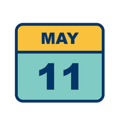 May 11th date on a single day calendar vector
