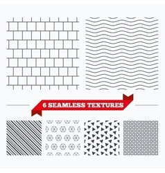 Mosaics square tiles seamless pattern vector