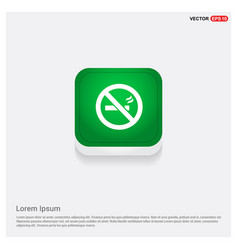 no smoking area green web button vector image