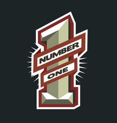 number one logo vector image