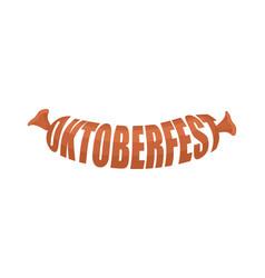 oktoberfest sausage lettering logo symbol of vector image