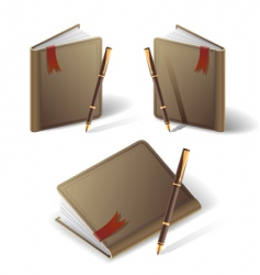 old diary icon vector image
