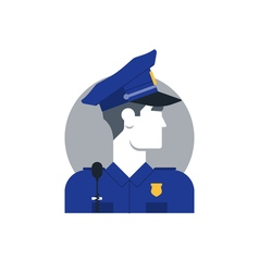 People policeman 1 vector image