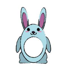 pet rabbit smiling vector image