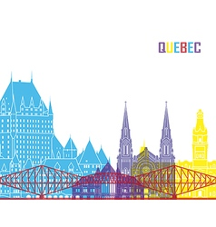 Quebec skyline pop vector