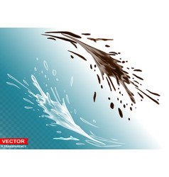 Realistic milk and chocolate splashes vector
