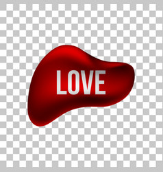Red love bubble badge vector