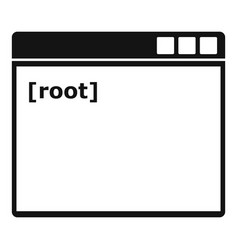 Root window icon simple style vector
