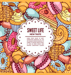 Sale of confectionery desserts vector