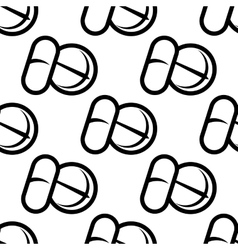 Seamless pattern of tablets and capsules vector image