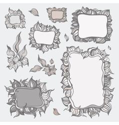 set ornamental frames vector image