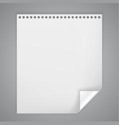Sheet paper with a bent corner vector