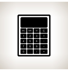 Silhouette calculator on a light background vector image