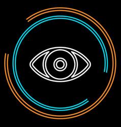 simple eye thin line icon vector image
