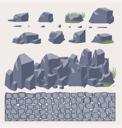 Stone wall pavement vector