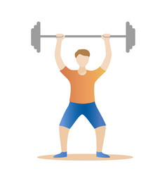 Strong man powerlifting weight lifter athlete vector