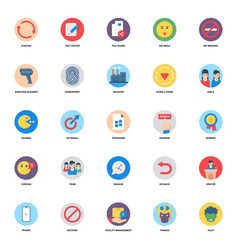 Superhero flat rounded icons pack vector