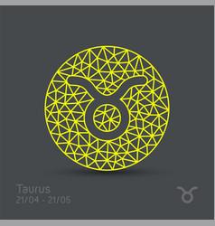 Taurus zodiac sign in circular frame vector