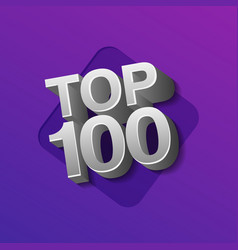 Top 100 hundred silver words vector