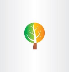 Tree logo green orange icon vector