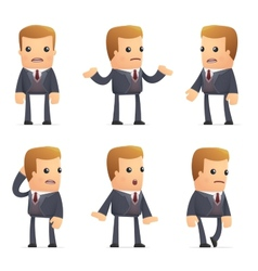 universal characters in different poses financial vector image