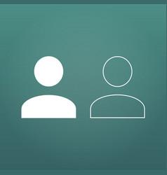 User flatand linear icon human person symbol vector