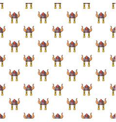 viking helmet pattern seamless vector image