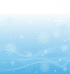 Winter white waves vector