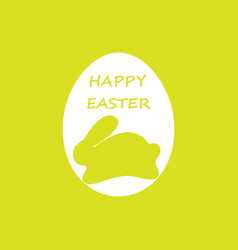 colorful happy easter with rabbit vector image vector image