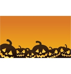 Halloween pumpkin orange backgrounds vector