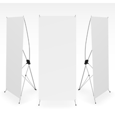 Set of blank X-stand banners display template vector image