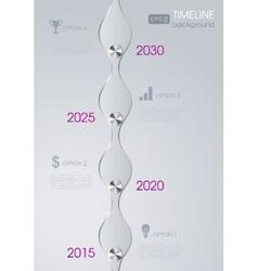 Timeline infographic metal design background vector image