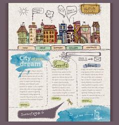 Website design template City vector image