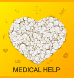 abstract medical background vector image